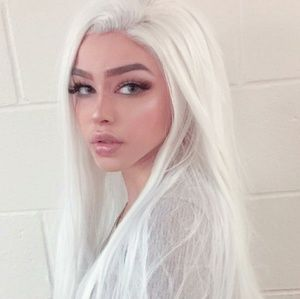 White Beauty Lace Front Wig